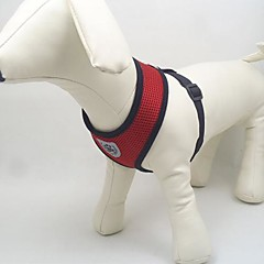 お買い得  犬用首輪/リード/ハーネス-犬 ハーネス 高通気性 繊維 メッシュ ブラック レッド ブルー ピンク