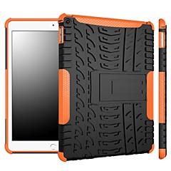 iPad (2017) Pro10.5 Pro9.7 iPad Air Air2 iPad234 mini 1234のためのスタンド付き2イン1眩まカラーストライプデザインのPCやシリコンケース