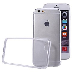 economico Offerte della settimana Accessori Apple-Custodia Per Apple iPhone 6 iPhone 6 Plus Ultra sottile Transparente Per retro Tinta unica Morbido TPU per iPhone 6s Plus iPhone 6s