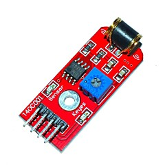 billige Sensorer-Keyes 801s vibration sensor modul - rød (dc 3 ~ 5v)