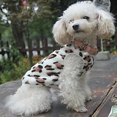お買い得  犬用ウェア&アクセサリー-ネコ 犬 スウェットシャツ パジャマ 犬用ウェア レオパード ブラック フリース コスチューム ペット用 男性用 女性用 カジュアル/普段着