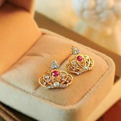 preiswerte Ohrringe-Kristall - Krone Klassisch Golden Für Party