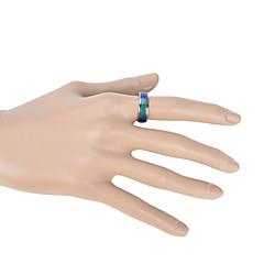 preiswerte Ringe-Damen Bandring - Emaille Liebe Modisch 6 / 7 / 8 / 9 / 10 Blau Für Hochzeit Party Geschenk