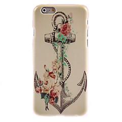 Ретро якорь и цветочный дизайн жесткий чехол на мобильный 6 плюс