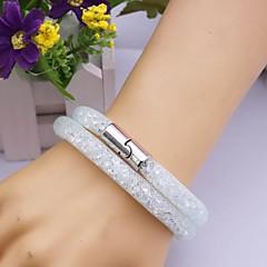 preiswerte Armbänder-Damen Wickelarmbänder Lederarmbänder - Leder, Spitze Einzigartiges Design, Modisch Armbänder Weiß / Gelb Für Weihnachts Geschenke Party Alltag