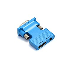 LWM® HDMI Female to VGA Male and 3.5mm Audio Out Adapter for PC LCD