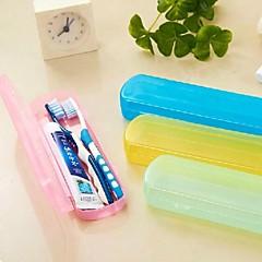 다채로운 휴대용 칫솔과 치약 저장 상자