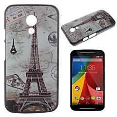 Varten Motorola kotelo Kuvio Etui Takakuori Etui Eiffelin torni Kova PC Motorola