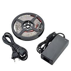 お買い得  LED ストリングライト-5m フレキシブルLEDライトストリップ 300led LED 5050 SMD 温白色 カット可能 / 接続可 / 車に最適 12 V 1個 / # / IP65 / ノンテープ・タイプ