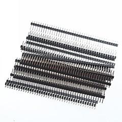 1 x 40 pin headers 2.54mm pin hilera ángulo recto PCB (20pcs)