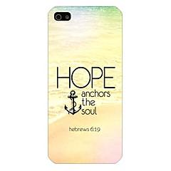Для Кейс для iPhone 5 Чехлы панели С узором Задняя крышка Кейс для Якорь Твердый PC для iPhone SE/5s iPhone 5