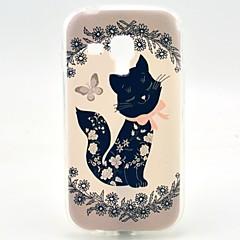 お買い得  Samsung その他の機種用ケース/カバー-ケース 用途 Samsung Galaxy Samsung Galaxy ケース パターン バックカバー 猫 TPU のために Trend Duos
