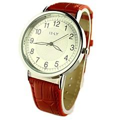preiswerte Tolle Angebote auf Uhren-Damen Armbanduhren für den Alltag Quartz PU Band Analog Blume Schwarz / Rot / Braun - Schwarz Braun Rot