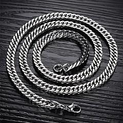 Недорогие Ожерелья-Муж. Ожерелья-цепочки - Титановая сталь A, B, C Ожерелье Назначение Новогодние подарки, Свадьба, Для вечеринок