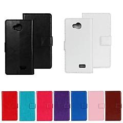 Недорогие Чехлы и кейсы для LG-Кейс для Назначение LG Кейс для LG Бумажник для карт Кошелек со стендом Флип Чехол Однотонный Твердый Кожа PU для