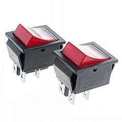 4-pin rocker switch rocker kapcsolók piros fényjelzés (2db)