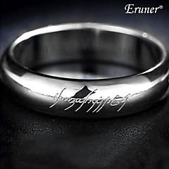 preiswerte Ringe-Herrn Bandring Silber Aleación Modeschmuck