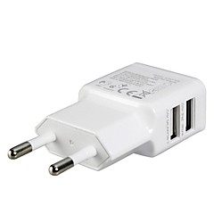 eu stekker dual usb power adapter wandlader voor ipad, iphone 8 7 samsung s8 s7&