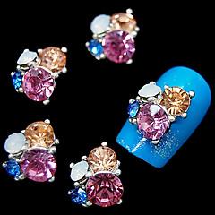 10 buc sclipici flori stras 3D DIY accesorii din aliaj de unghii arta decorativa
