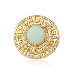 preiswerte Ringe-Damen Synthetischer Diamant Eheringe Bandring - Strass, vergoldet, Opal damas 7 / 8 / 9 Gold Für Hochzeit Party Alltag