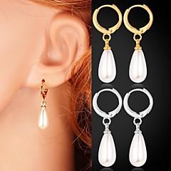 preiswerte Ohrringe-Damen Tropfen-Ohrringe - Künstliche Perle, Platiert, vergoldet Modisch Silber / Golden Für Hochzeit / Party / Alltag