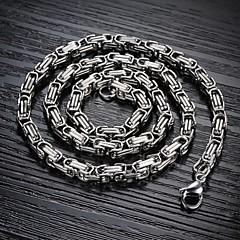 Недорогие Ожерелья-Муж. форма Ожерелья-цепочки Титановая сталь Позолота Ожерелья-цепочки Новогодние подарки Свадьба Для вечеринок Повседневные Спорт