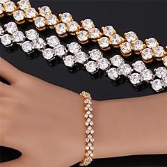 U7® High Quality Beautiful Cubic Zircon 18K Real Gold Plated Roman Bracelet Charm Bracelet For Women Christmas Gifts