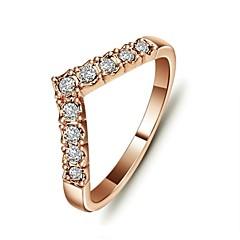 preiswerte Ringe-Damen Statement-Ring - Krystall, vergoldet Liebe Simple Style 6 / 7 / 8 / 9 Silber / Golden Für Hochzeit Party Alltag