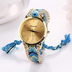 preiswerte Damenuhren-Damen Armbanduhr Armbanduhren für den Alltag Stoff Band Böhmische / Modisch Schwarz / Ein Jahr / Tianqiu 377