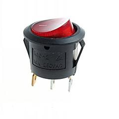 abordables Interruptores-Módulos de conmutación roca bricolaje 3 pines w / led rojo - negro (10 piezas)