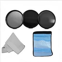 55mm neutral density professionele fotografie filter set (ND2 ND4 ND8) + reinigingsdoekje
