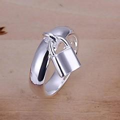 Gyűrűk Esküvő / Parti / Napi / Hétköznapi / Sport Ékszerek Ezüstözött Női Karikagyűrűk8 Ezüst