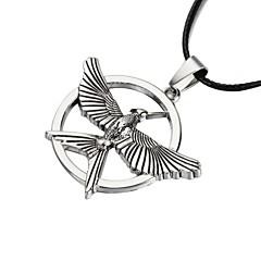 Недорогие Ожерелья-форма Ожерелья с подвесками Кожа Медь Серебрянное покрытие Ожерелья с подвесками Повседневные Спорт Бижутерия