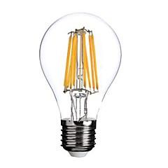 ราคาถูก อุปกรณ์เสริมสำหรับ LED และไฟ-1pc 800lm E26 / E27 หลอดไฟLED Filament A60(A19) 8 ลูกปัด LED COB ขาวนวล 220-240V