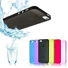 Недорогие Кейсы для iPhone 5-Для Кейс для iPhone 5 Чехлы панели Защита от влаги Полупрозрачный Задняя крышка Кейс для Один цвет Твердый PC для iPhone SE/5s iPhone 5