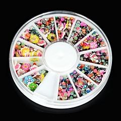 Tırnak sanat dekorasyon için 1600pcs yanlış tırnak sanat akrilik taklidi çiçek çiçek glitter takı& dizayn