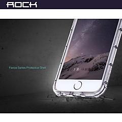 Для Кейс для iPhone 6 / Кейс для iPhone 6 Plus Защита от удара / Прозрачный Кейс для Задняя крышка Кейс для Один цвет Мягкий TPUiPhone 6s