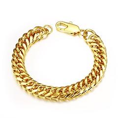 preiswerte Armbänder-Herrn Ketten- & Glieder-Armbänder - vergoldet Einzigartiges Design, Modisch Armbänder Golden Für Weihnachts Geschenke Hochzeit Party