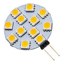 economico Lampadine LED-70 lm G4 Faretti LED 12 leds SMD 5050 Bianco caldo Luce fredda AC 12V