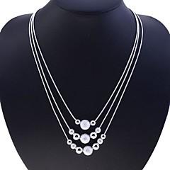 お買い得  ネックレス-女性 スネーク ファッション ストランドネックレス 純銀製 ストランドネックレス 、 パーティー 日常 カジュアル