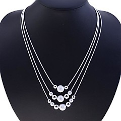 abordables Collares-Mujer Collar de hebras - Plata de ley, Plata Serpiente Moda Plata Gargantillas Joyas Para Fiesta, Diario, Casual
