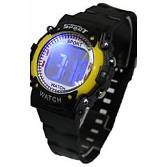 preiswerte Tolle Angebote auf Uhren-Damen Modeuhr Digitaluhr Japanisch Quartz digital 30 m Armbanduhren für den Alltag Caucho Band digital Zeichentrick Schwarz - Gelb Rot Blau Ein Jahr Batterielebensdauer