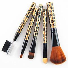 hesapli -5 Fırça Setleri Sentetik Saç Profesjonalne Plastik Yüz Dudak