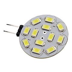 2W G4 LED Spotlight 12 leds SMD 5730 Warm White Cold White 180-210lm 3500/6000K DC 12V