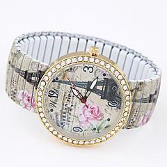 お買い得  大特価腕時計-女性用 ブレスレットウォッチ ファッションウォッチ カジュアルウォッチ クォーツ カジュアルウォッチ 合金 バンド エッフェル塔 多色