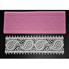four-c taart levert kant siliconen mat lace mal voor suiker ambacht, siliconen mat fondant taart tools kleur roze