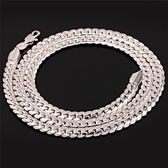 cheap Men's Jewelry-Men's Women's Shape Choker Necklace Chain Necklace Vintage Necklace Platinum Plated Gold Plated Alloy Choker Necklace Chain Necklace
