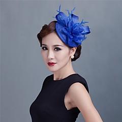 abordables Bijoux pour Femme-Femme Jeune bouquetière Plume Tulle Casque-Mariage Occasion spéciale Décontracté Extérieur Coiffure Fleurs