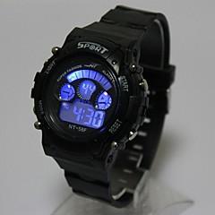 preiswerte Damenuhren-Kinder Modeuhr Digitaluhr Japanisch Quartz digital 30 m Armbanduhren für den Alltag Silikon Band digital Freizeit Cool Schwarz - Schwarz Ein Jahr Batterielebensdauer