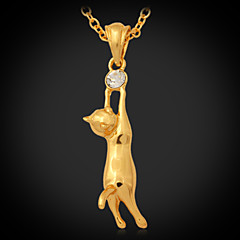 preiswerte Halsketten-Damen Synthetischer Diamant Anhängerketten - Strass, Platiert, vergoldet Modisch Gold Modische Halsketten Schmuck Für Hochzeit, Party, Alltag / Diamantimitate
